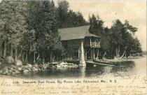 Image of Swancotts Boat House, Big Moose Lake, Adirondack Mts., N.Y. - Postcard
