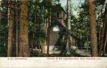 Image of In the Adirondacks. Mission of the Transfiguration, Blue Mountain Lake. - Postcard