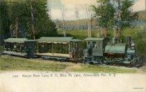 Image of Marion Rover Carry R.R., Blue Mt. Lake, Adirondack Mt., N.Y.  - Postcard
