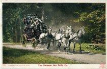 Image of An Adirondack Mountain Stage, The Saranac Inn Tally Ho - Postcard