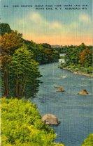Image of View Showing Indian River From Indian Lake Dam, Indian Lake, N.Y., Adirondack Mts.  - Postcard