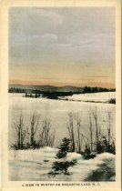 Image of A View in Winter on Raquette Lake, N.Y. - Postcard