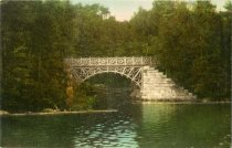 Image of Memorial Bridge, Blue Mountain Lake, N.Y. - Postcard