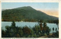 Image of Blue Mountain in the Adirondacks, Blue Mountain Lake, N.Y. - Postcard