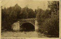 Image of Bridge over the Inlet, Blue Mountain Lake, N.Y. - Postcard