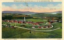 Image of Veterans T. B. Hospital at Tupper Lake, N.Y. In the Adirondacks Mts.  - Postcard