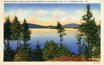 Image of Upper Saranac Lake as Seen from Wawbeek Club, Saranac Lake, N.Y. Adirondack Mts. - Postcard