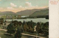 Image of Mirror Lake and Lake Placid, in the Adirondacks - Postcard