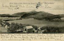 "Image of Mirror Lake & Lake Placid from Grand View Hotel, ""Adirondacks"" - Postcard"