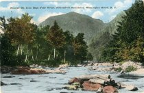 Image of Sunrise Mt. from High Falls Gorge, Adirondack Mountains, Wilmington Notch, N.Y.  - Postcard