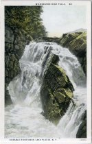 Image of Wilmington High Falls, Ausable River Near Lake Placid, N.Y.  - Postcard