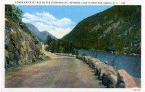 Image of Lower Cascasde Lake In The Adirondacks, Between Lake Placid and Keene, N.Y. - Postcard