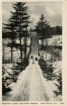 Image of Toboggan Slides Give Many Thrills. Lake Placid, N.Y. - Postcard