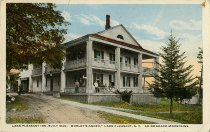 "Image of Lake Pleasant Inn, built 1840, ""Morley's Annex,"" Lake Pleasant, N.Y. Adirondack Mountains. - Postcard"