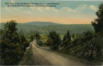 Image of East Stony Creek Bridge and Hill Hope, N.Y. Lake Pleasant and Northville State Highway, Adirondack Mountains - Postcard