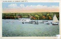 Image of Water Sports On Schroon Lake, N.Y. - Postcard
