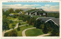 Image of The Brown Swan Club and Cottages, Schroon Lake, N.Y., In The Adirondacks - Postcard