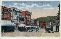 Image of View from Main Street North into Broadway, Saranac Lake, N.Y. - Postcard