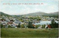 Image of General View of Saranac Lake and Mount Baker, Adirondack Mts.  - Postcard