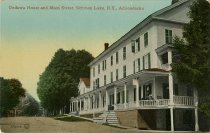 Image of Ondawa House and Main Street, Schroon Lake, N.Y., Adirondacks - Postcard
