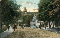 Image of Main Street looking S., Saranac Lake, N.Y.  - Postcard