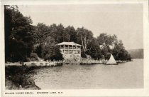 Image of Leland House Beach, Schroon Lake, N.Y. - Postcard
