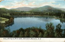Image of Early Morning on Mirror Lake, Adirondack Mountains, N.Y. - Postcard