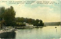 Image of View of Schroon Lake from Boat Landing Showing Hotel Leland Bathing Beach, Adirondack Mts., N.Y. - Postcard