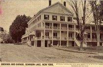 Image of Ondawa and Garage, Schroon Lake, New York - Postcard