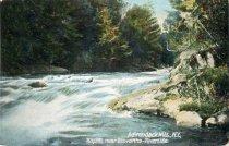 Image of Adirondack Mts., N.Y., Rapids near Brovanha-Riverside - Postcard