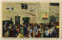 Image of Decoration Day Guests Leaving Grand Central, N.Y. to Scaroon Manor, Schroon Lake, N.Y. - Postcard
