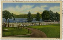 Image of Ninth Championship Tennis Courts, Scaroon Manor Hotel on Schroon Lake, N.Y. - Postcard