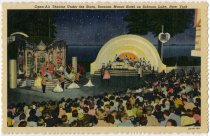 Image of Open Air Theatre Under the Stars, Scaroon Manor Hotel on Schroon Lake, New York - Postcard