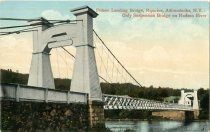 Image of Fulson Landing Bridge, Riparius, Adirondacks, N.Y.: Only Suspension Bridge on Hudson River - Postcard
