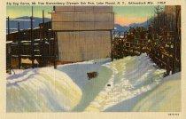 Image of Zig Zag Curve, Mt. Hoevenberg Olympic Bob Run, Lake Placid, N.Y., Adirondack Mts. - Postcard