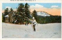 Image of Skiing at Lake Placid, Adirondacks, N.Y. - Postcard