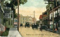 Image of Broadway looking towards Main Street, Saranac Lake, N.Y.  - Postcard