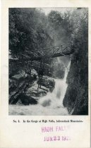 Image of In the Gorge at High Falls, Adirondack Mountains - Postcard