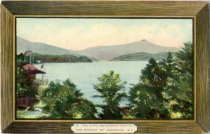 Image of Lake Placid and Whiteface Mountain From Whiteface Inn, Adirondacks, N.Y. - Postcard