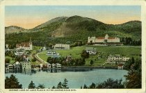 Image of Mirror Lake at Lake Placid in the Adirondack Mts. - Postcard