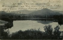 Image of Early Morning on Mirror Lake. Adirondack Mountains. - Postcard