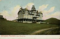 Image of Adirondack Mountains, Lake Placid Inn. - Postcard