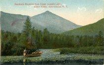 Image of Haystack Mountain from Upper Ausable Lake, Keene Valley, Adirondacks, N.Y. - Postcard