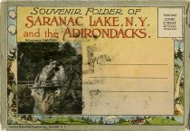 Image of Souvenir Folder of Saranac Lake, N.Y. and the Adirondacks. - Postcard