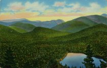 Image of Heart Lake Showing McIntyre Colden and Mt. Marcy Adirondack Mts., N.Y. - Postcard