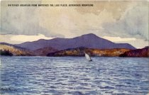 Image of Whiteface Mountain From Whiteface Inn, Lake Placid, Adirondack Mountains - Postcard