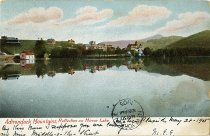 Image of Adirondack Mountains, Reflection on Mirror Lake - Postcard