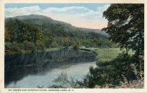 Image of Mt. Baker and Saranac River, Saranac Lake, N.Y. - Postcard