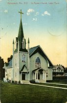 Image of St. Agnes' Church, Lake Placid, Adirondacks, N.Y. - Postcard