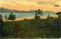 Image of Indian Lake, looking South, Indian Lake, N.Y. - Postcard